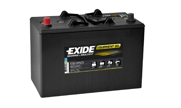brand new leisure exide gel battery 12v 450cca es950 2. Black Bedroom Furniture Sets. Home Design Ideas